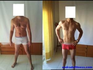 perder peso, ganar masa muscular, tener abdominales, transformación física